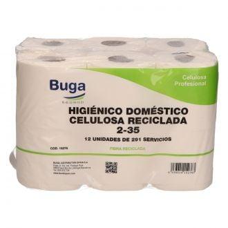 Higiénico Doméstico Buga Reciclado 2 capas - 35m