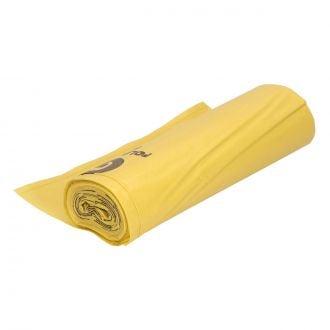 Bolsa de basura industrial 80x105cm amarilla G220