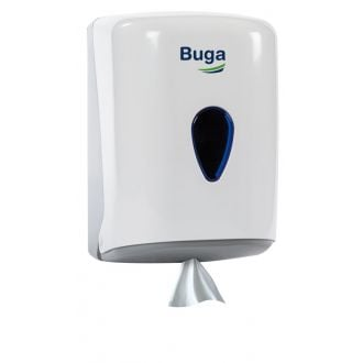 Dispensador Secamanos de papel mecha ABS blanco