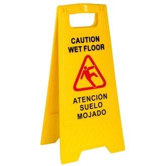 Señal de atención suelo mojado