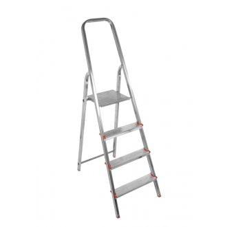 Escalera doméstica de aluminio con 3 peldaños de 8 cm
