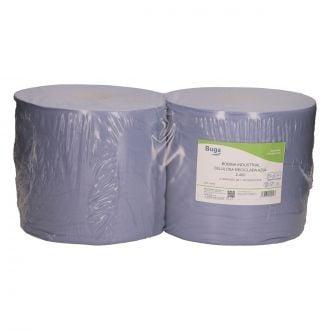 Bobina Industrial Buga Reciclado 2 capas - 400m azul