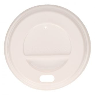 Tapa para vaso con orificio SP4 PS blanco