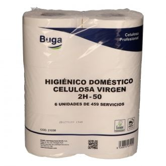 Higiénico Doméstico Buga Celulosa 2 capas - 50m