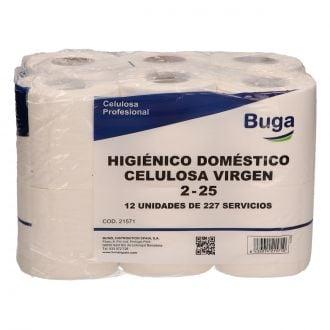 Higiénico Doméstico Buga Celulosa 2 capas - 25m