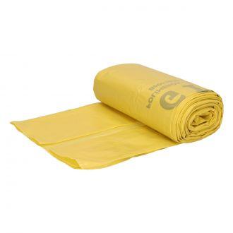 Bolsa de Basura Doméstica 58x60cm Amarilla G220