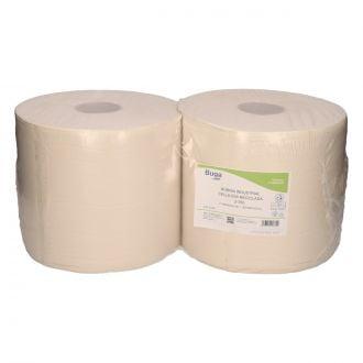 Bobina Industrial Buga Reciclado 2 Capas - 350m Blanca