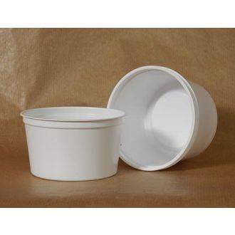 Envase redondo PS blanco 250 ml