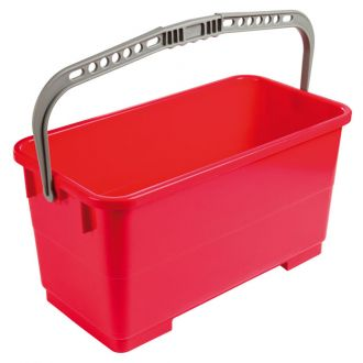 Cubo rectangular 22L para lavavidrios con asa sin ruedas