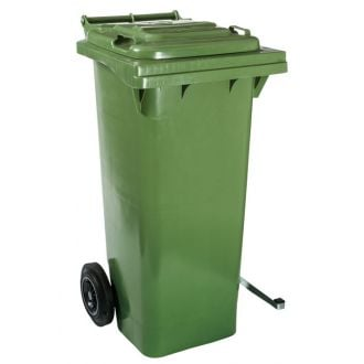 Contenedor de Residuos 80L Verde con Tapa y Pedal