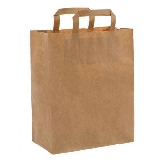 Bolsa con asa Kraft 26+14x32