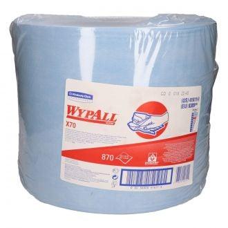 Bobina Industrial Paño WypAll X70 1 capa - 870 paños azul