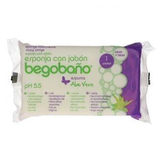 Esponja con gel aloe vera Begobaño
