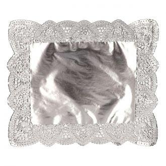 Blonda calada plata 31x38cm