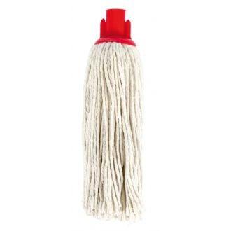 Fregona algodón crudo con cabezal rojo 220grs