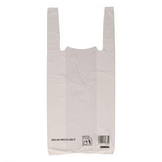 Bolsa camiseta 30x40cm blanca G12