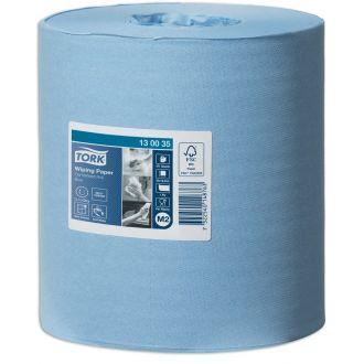 Bobina Secamanos Tork Reciclado 1 capa - 165m azul