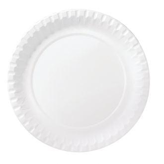 Plato de cartón 18cm blanco