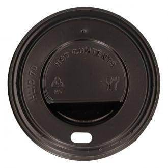 Tapa para vaso con orificio SP6 PS negra