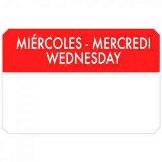 Etiqueta adhesiva 75x50 Miércoles