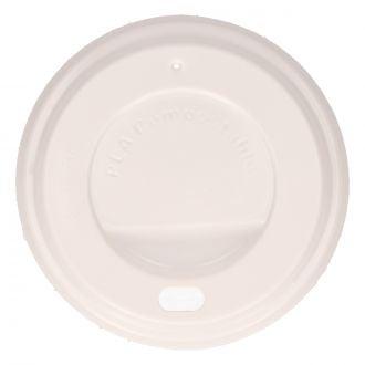 Tapa para Vaso con Orificio SP6 CPLA Blanco Compostable
