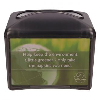 Dispensador de servilleta zig-zag grande Greensource negro