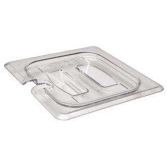 Tapa con muesca y asa GN 1/6 de policarbonato transparente