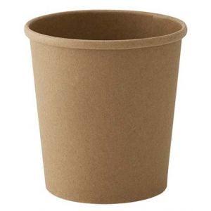Envase papel sopa Kraft 470ml Reciclable