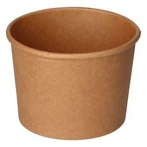 Envase papel sopa Kraft 350ml Reciclable