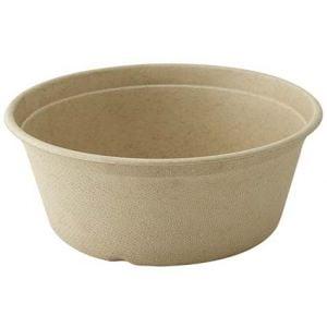 Bowl de bagazo marrón 500ml Compostable